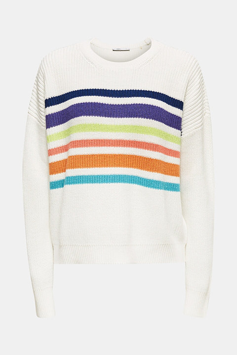 Boxy ribbed jumper