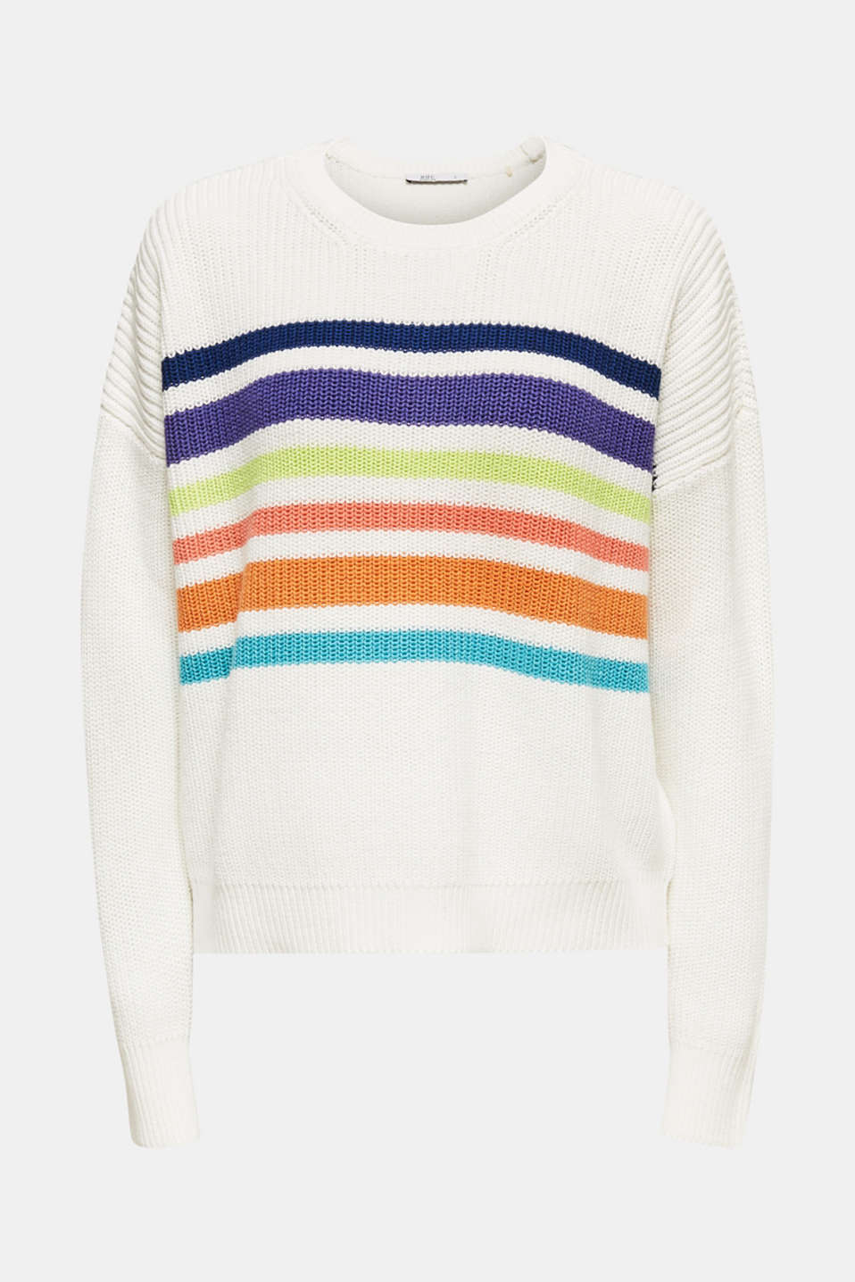 Boxy ribbed jumper, OFF WHITE 2, detail image number 5