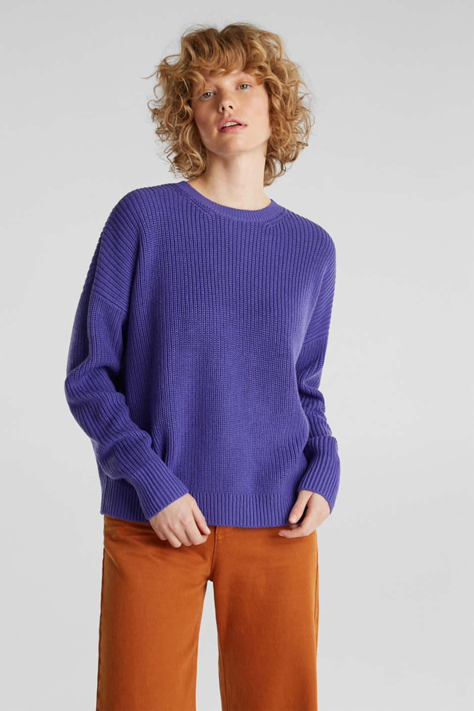 edc - Boxy ribbed jumper