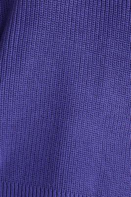 Boxy ribbed jumper, DARK LAVENDER, detail