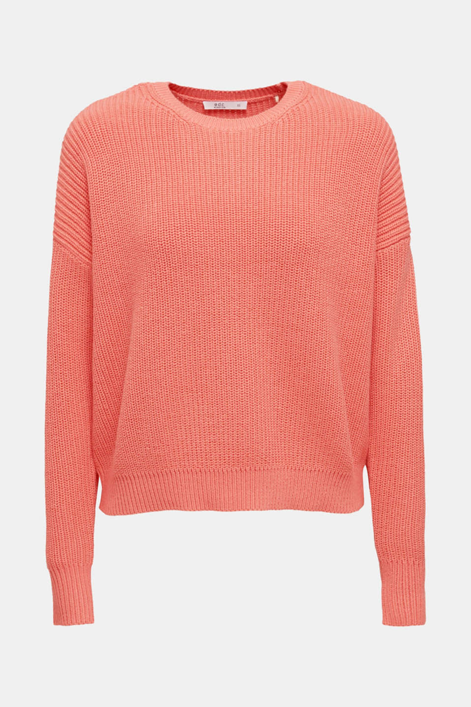 Boxy ribbed jumper, CORAL, detail image number 5