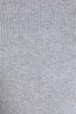 Short-sleeved jumper in blended cotton, LIGHT GREY 5, detail
