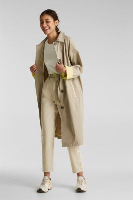 Short-sleeved jumper in blended cotton, OFF WHITE, detail