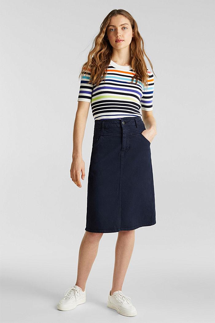 Short-sleeved jumper in blended cotton, NEW OFF WHITE, detail image number 4