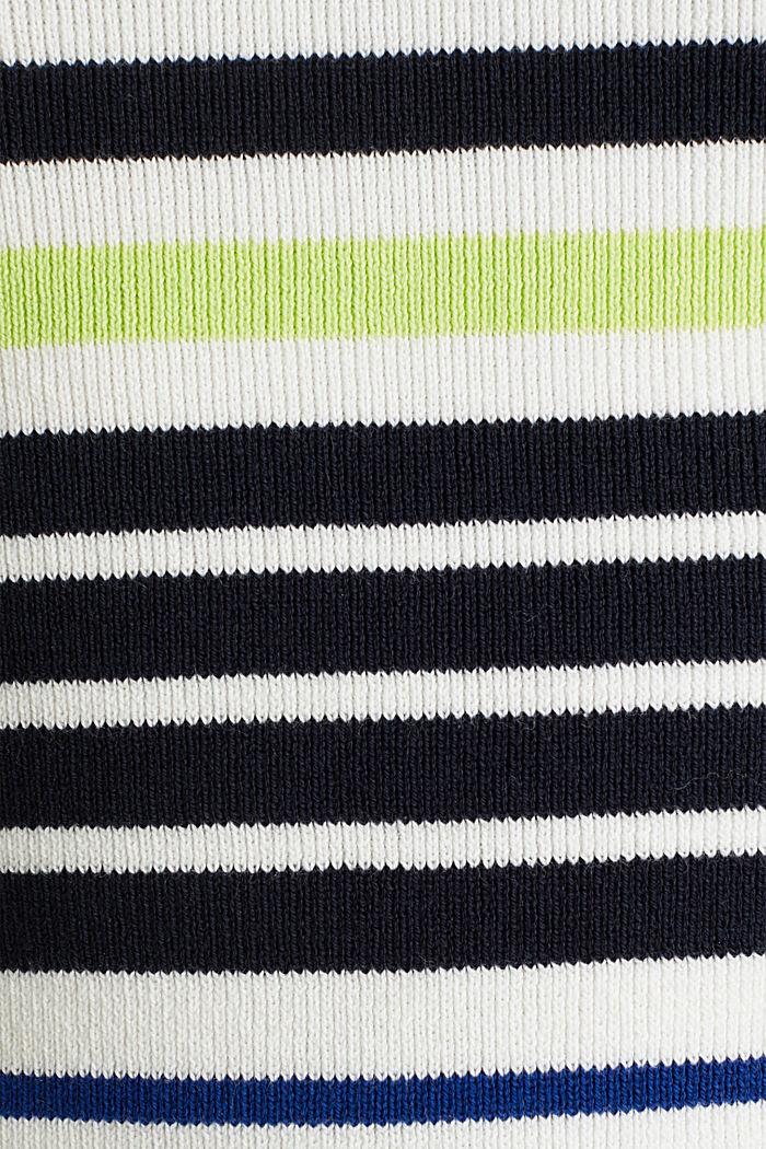 Short-sleeved jumper in blended cotton, NEW OFF WHITE, detail image number 3