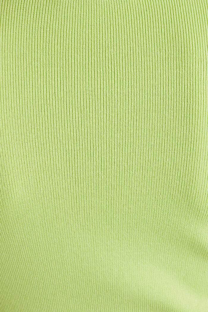 Kurzarm-Pullover aus Baumwoll-Mix, LIME YELLOW, detail image number 4