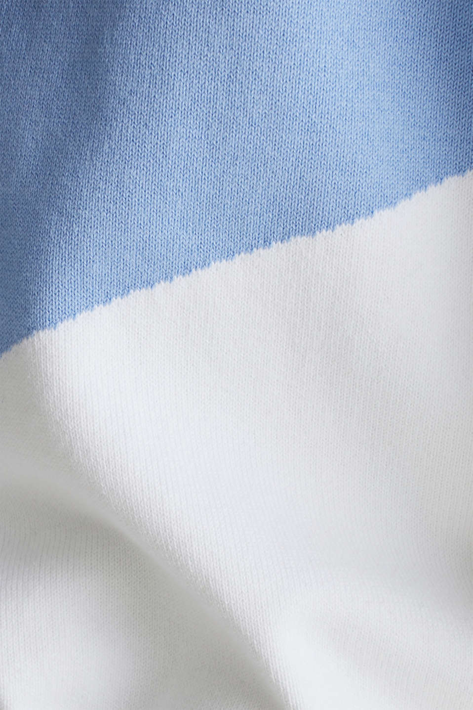 Knitted cardigan in a colour block style, BLUE LAVENDER 2, detail image number 4