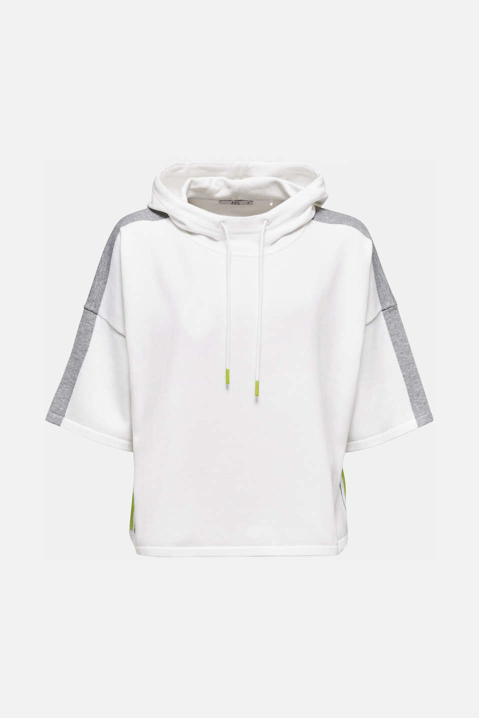 Boxy hoodie jumper with stripes, OFF WHITE 2, detail image number 5
