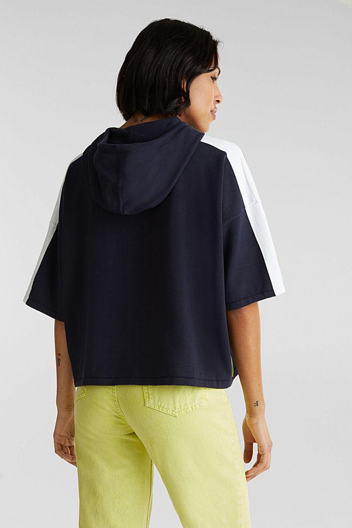 Boxy Kapuzen-Pullover mit Streifen, NAVY, detail image number 3