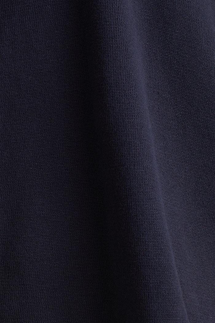 Boxy Kapuzen-Pullover mit Streifen, NAVY, detail image number 4