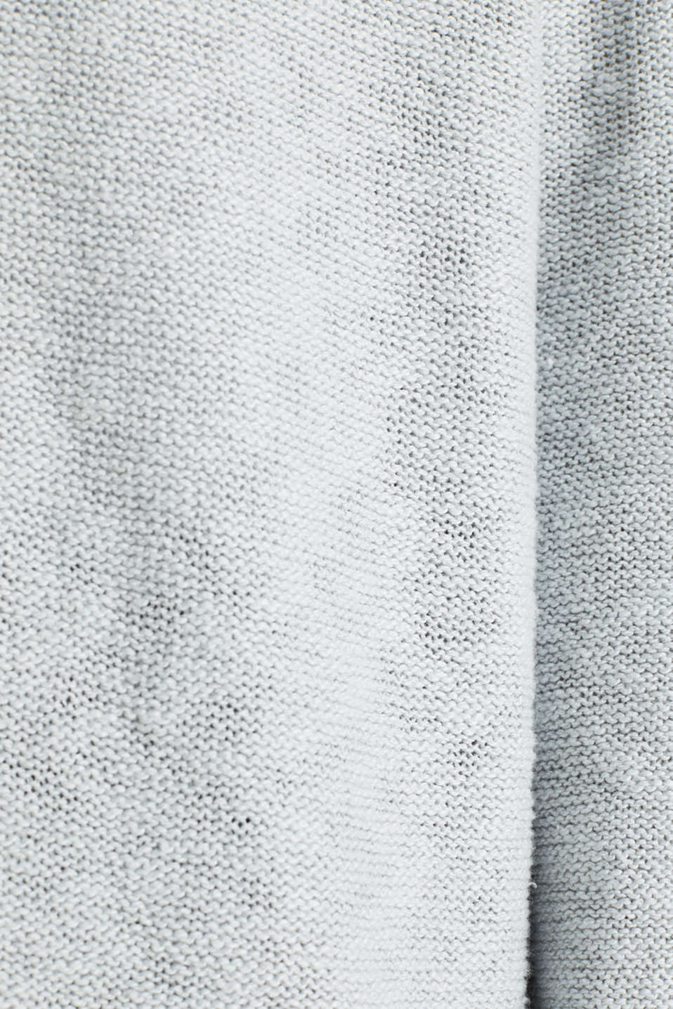 Open hooded cardigan containing linen, LIGHT GREY 5, detail image number 4