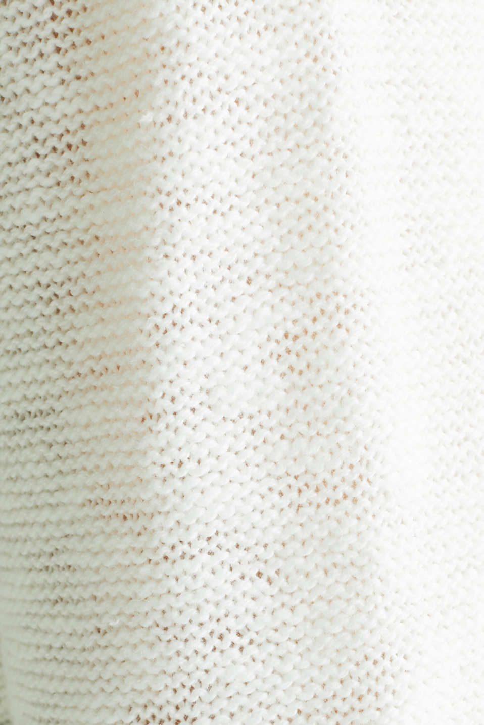 Open hooded cardigan containing linen, OFF WHITE, detail image number 3
