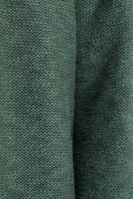 Open hooded cardigan containing linen, KHAKI GREEN, detail