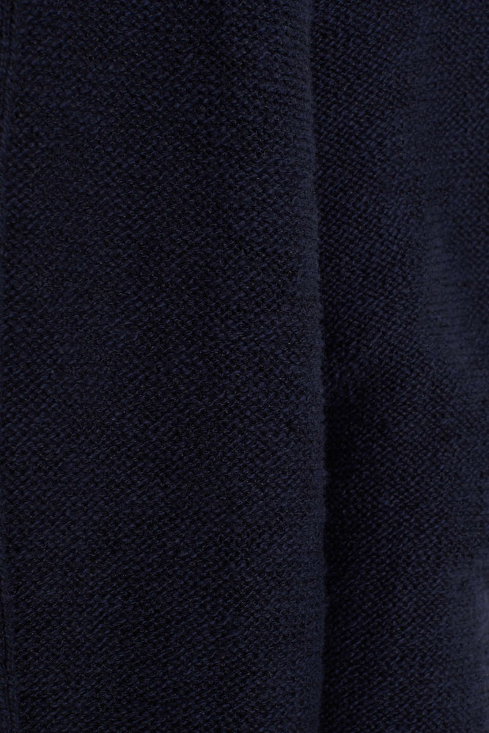 Open hooded cardigan containing linen, NAVY, detail image number 4