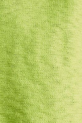 Open hooded cardigan containing linen, LIME YELLOW, detail