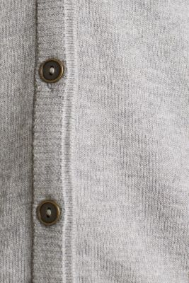 Cardigan with multi-coloured borders, LIGHT GREY 5, detail