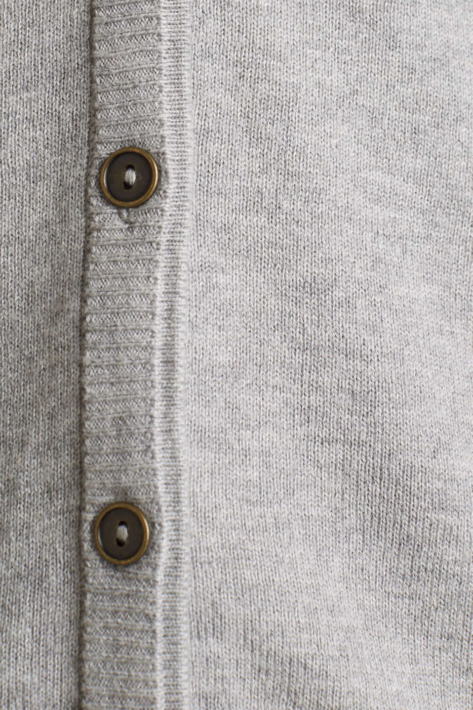 Cardigan with multi-coloured borders, LIGHT GREY 5, detail image number 4