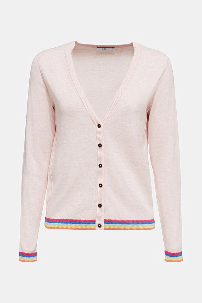 Vest met meerkleurige boordjes, LIGHT PINK, detail image number 6