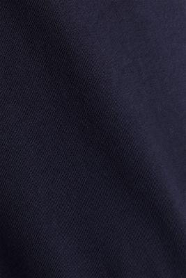 Sweatshirt hoodie with appliquéd stripes, NAVY, detail