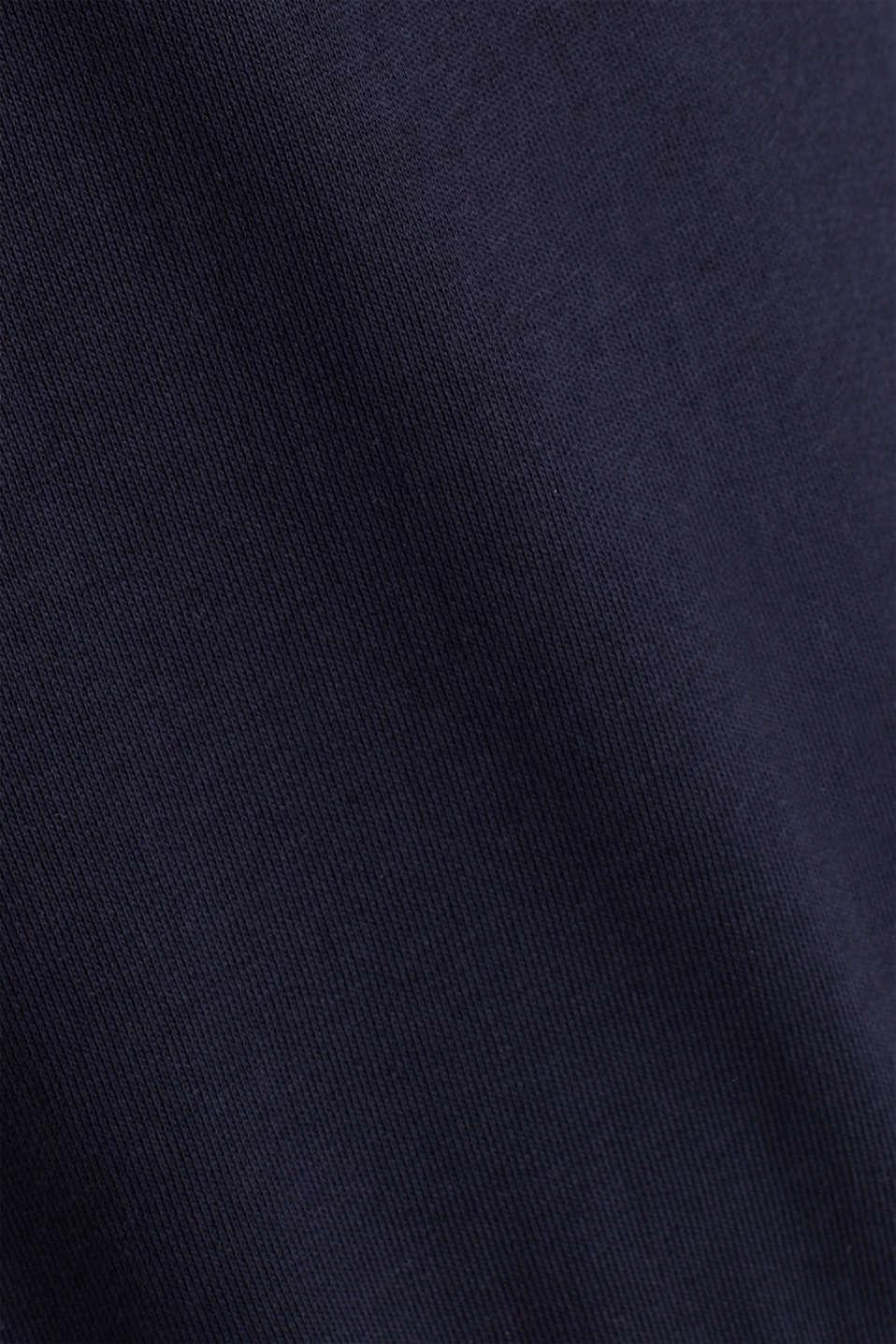 Sweatshirt hoodie with appliquéd stripes, NAVY, detail image number 4