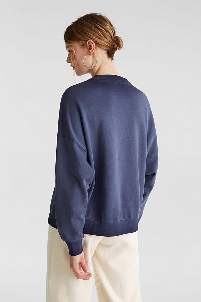 Sweatshirt mit Fledermaus-Ärmeln, 100% Baumwolle, NAVY, detail image number 3