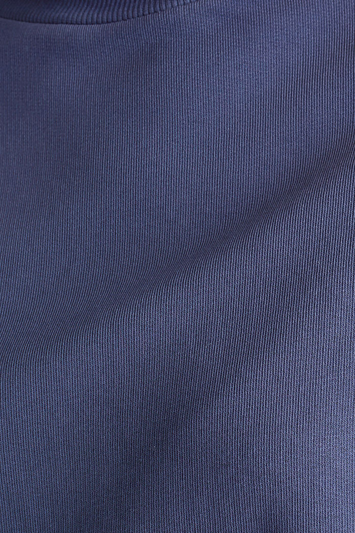 Sweatshirt with batwing sleeves, 100% cotton, NAVY, detail image number 4