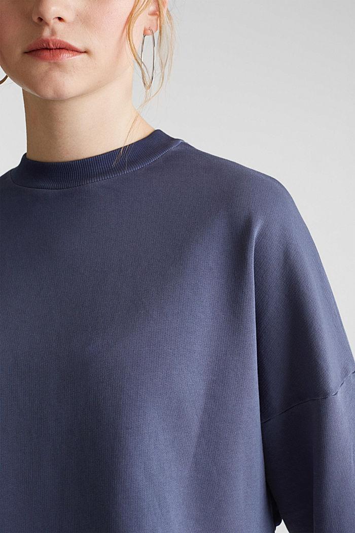 Sweatshirt mit Fledermaus-Ärmeln, 100% Baumwolle, NAVY, detail image number 5