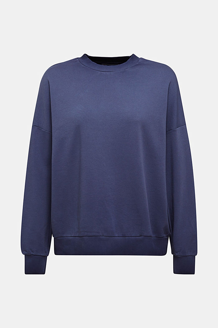 Sweatshirt with batwing sleeves, 100% cotton
