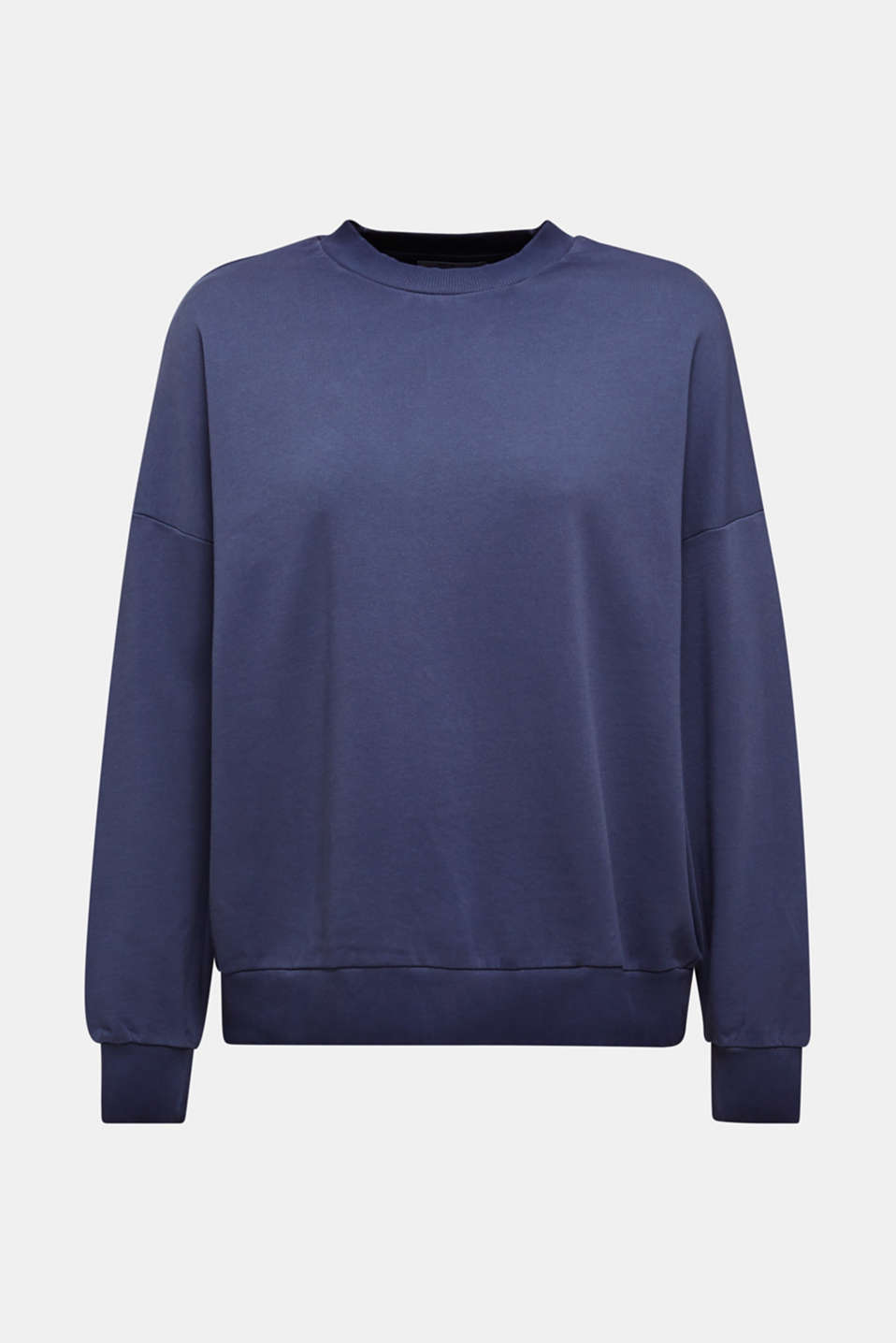 Sweatshirt with batwing sleeves, 100% cotton, NAVY, detail image number 7