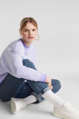 Sweatshirt with batwing sleeves, 100% cotton, DARK LAVENDER, detail