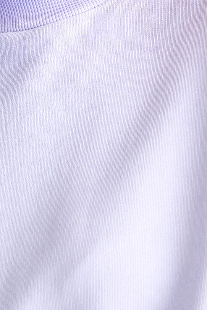 Sweatshirt with batwing sleeves, 100% cotton, DARK LAVENDER, detail image number 4