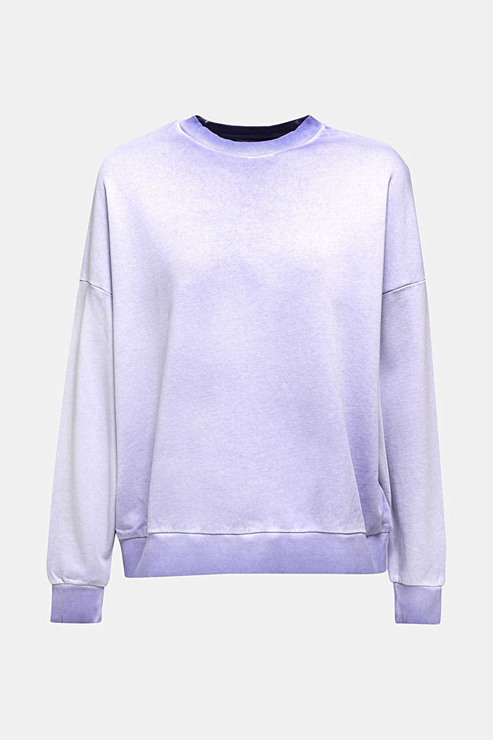 Sweatshirt with batwing sleeves, 100% cotton, DARK LAVENDER, detail image number 8