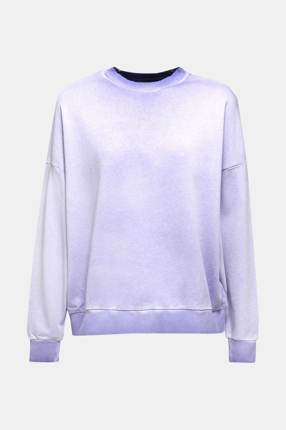 Sweatshirt with batwing sleeves, 100% cotton, DARK LAVENDER, detail image number 8