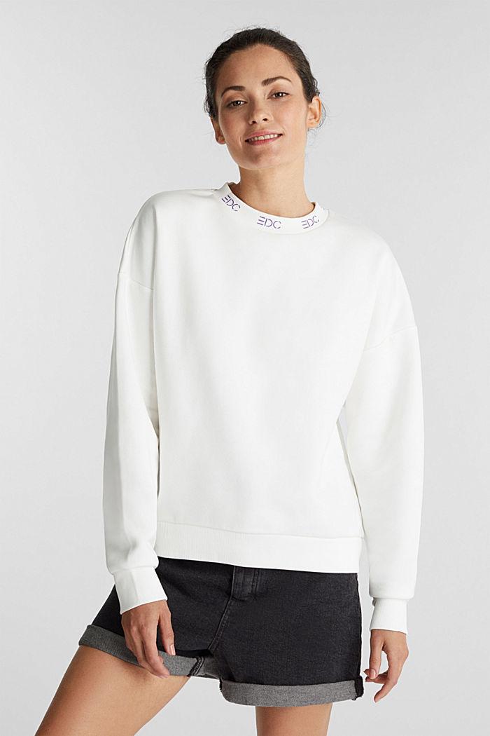 Sweatshirt mit Logo-Bündchen, OFF WHITE, detail image number 0