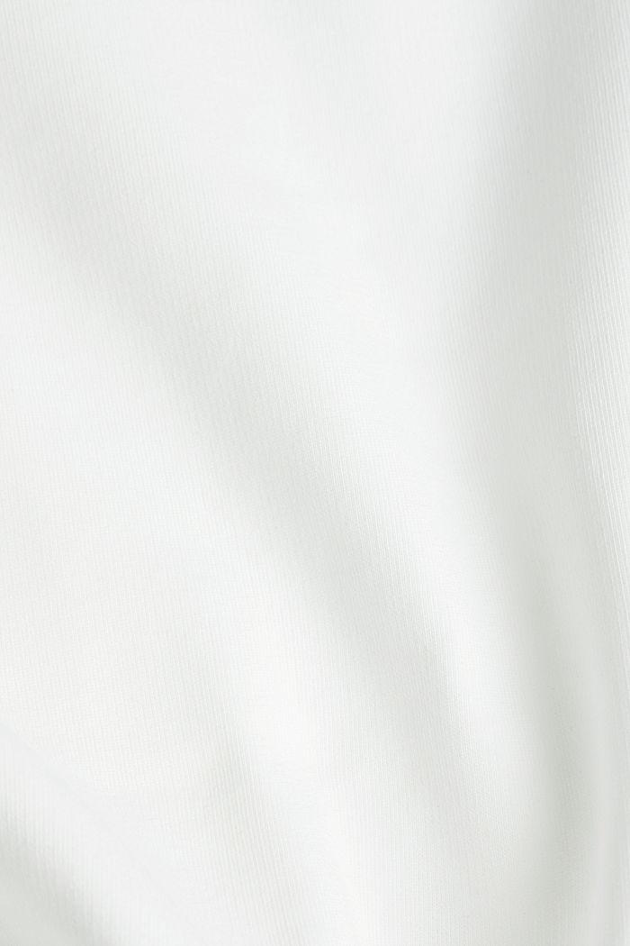 Sweatshirt mit Logo-Bündchen, OFF WHITE, detail image number 4
