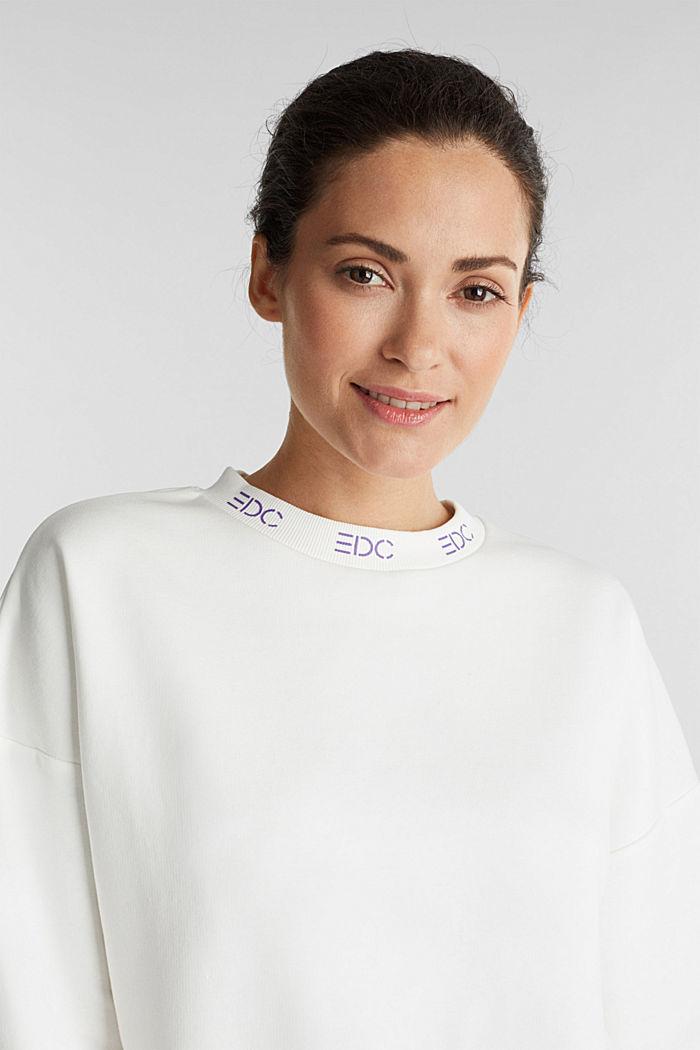 Sweatshirt mit Logo-Bündchen, OFF WHITE, detail image number 5
