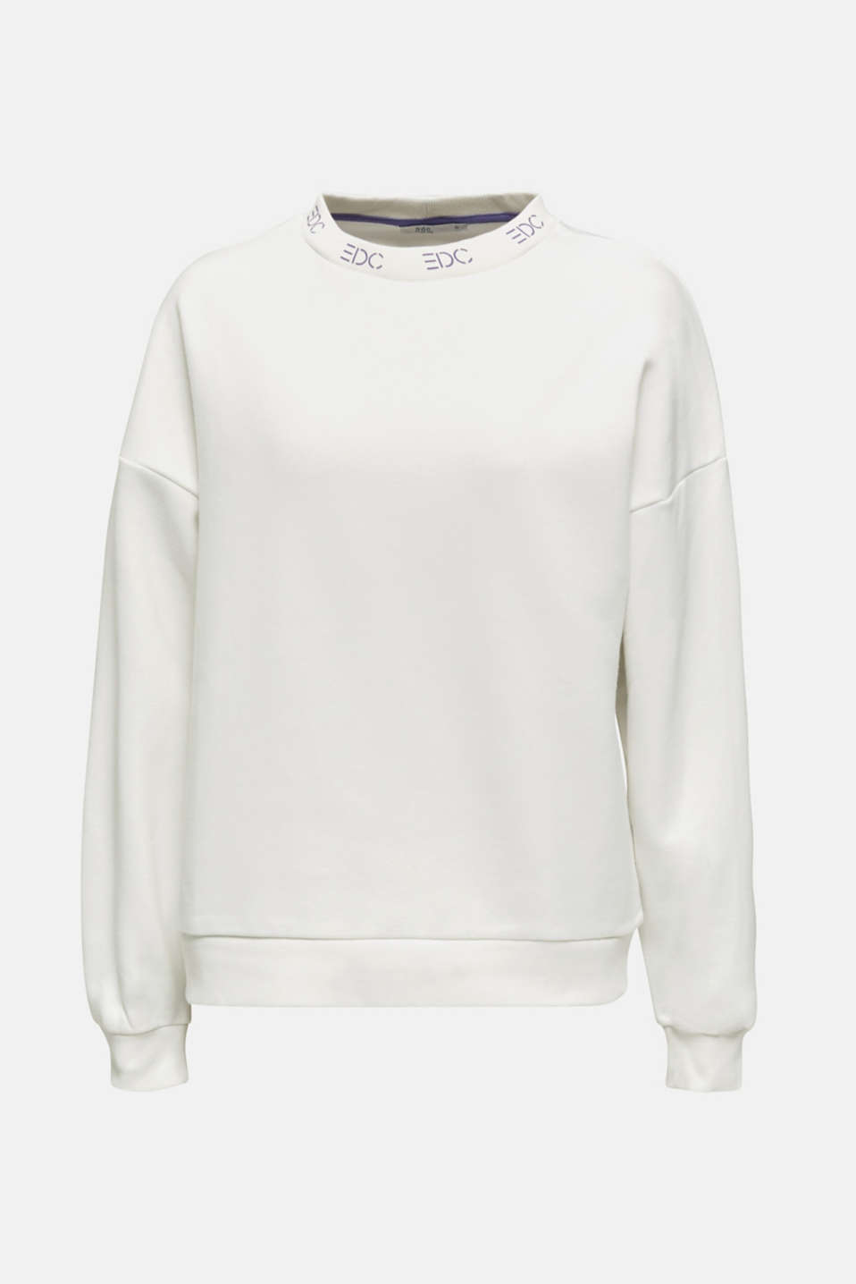Sweatshirt with a logo on the cuffs, OFF WHITE, detail image number 5