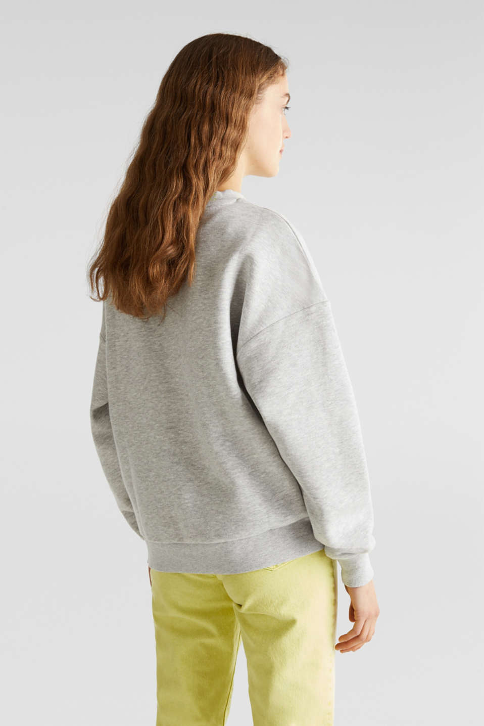 Oversized melange sweatshirt, LIGHT GREY 5, detail image number 2