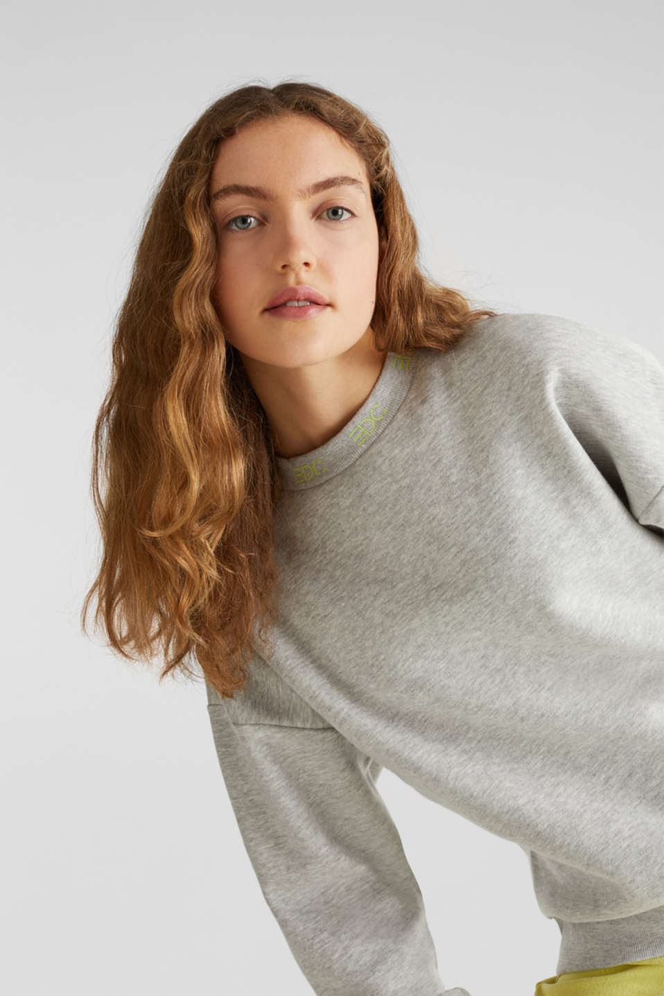 Oversized melange sweatshirt, LIGHT GREY 5, detail image number 5