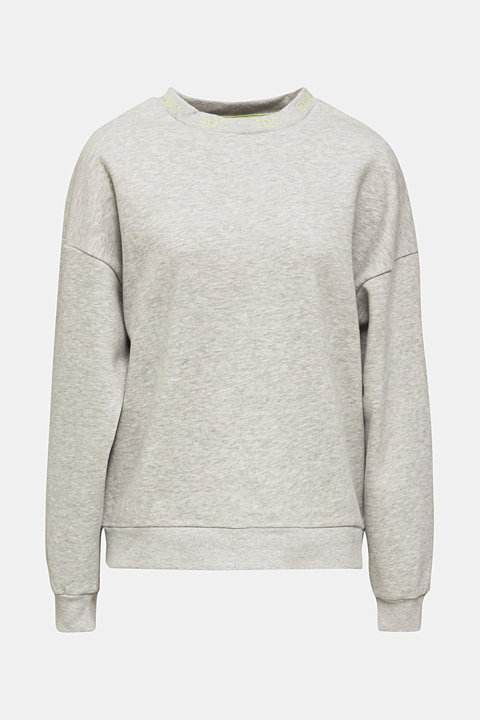 Oversized melange sweatshirt