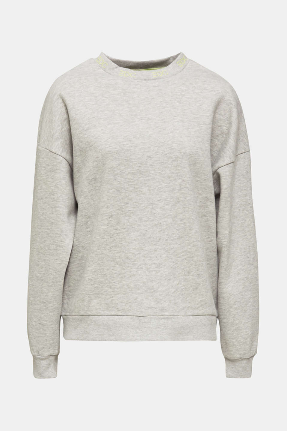 Oversized melange sweatshirt, LIGHT GREY 5, detail image number 6