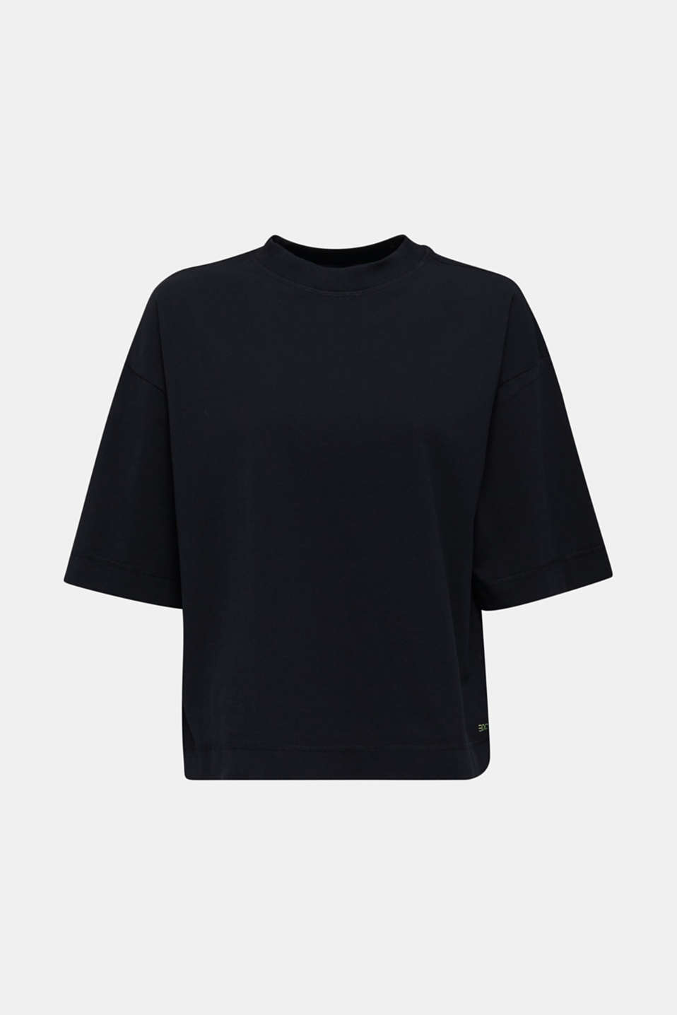 Loose T-shirt in 100% cotton, BLACK, detail image number 7