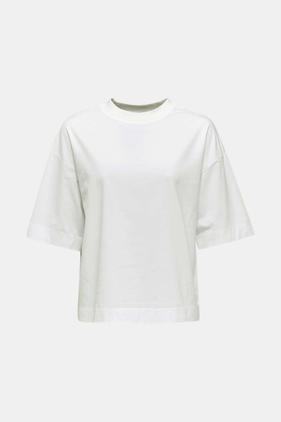 Loose T-shirt in 100% cotton, WHITE, detail image number 6