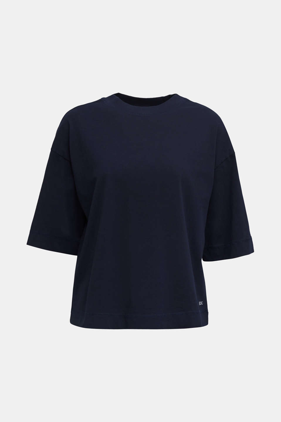 Loose T-shirt in 100% cotton, NAVY, detail image number 7