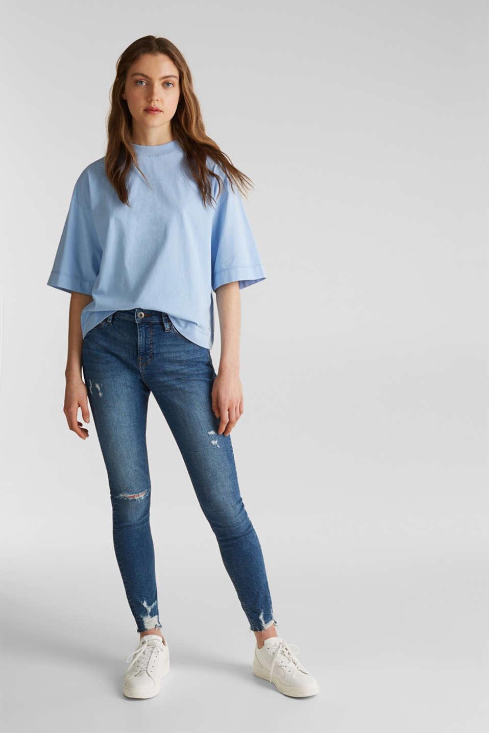 Loose T-shirt in 100% cotton, BLUE LAVENDER 4, detail image number 1