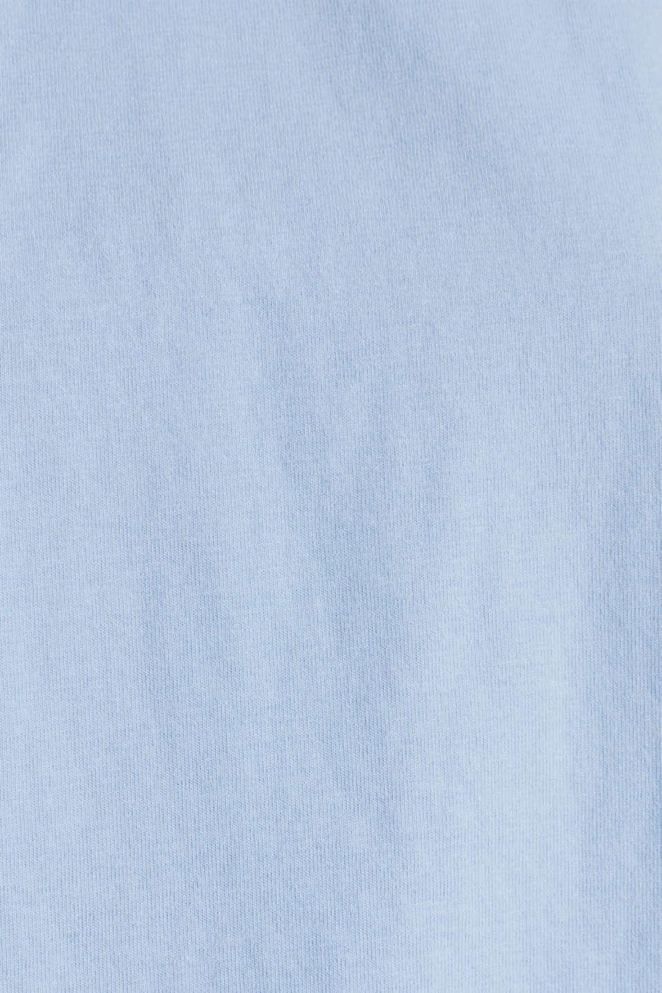 Loose T-shirt in 100% cotton, BLUE LAVENDER 4, detail image number 4