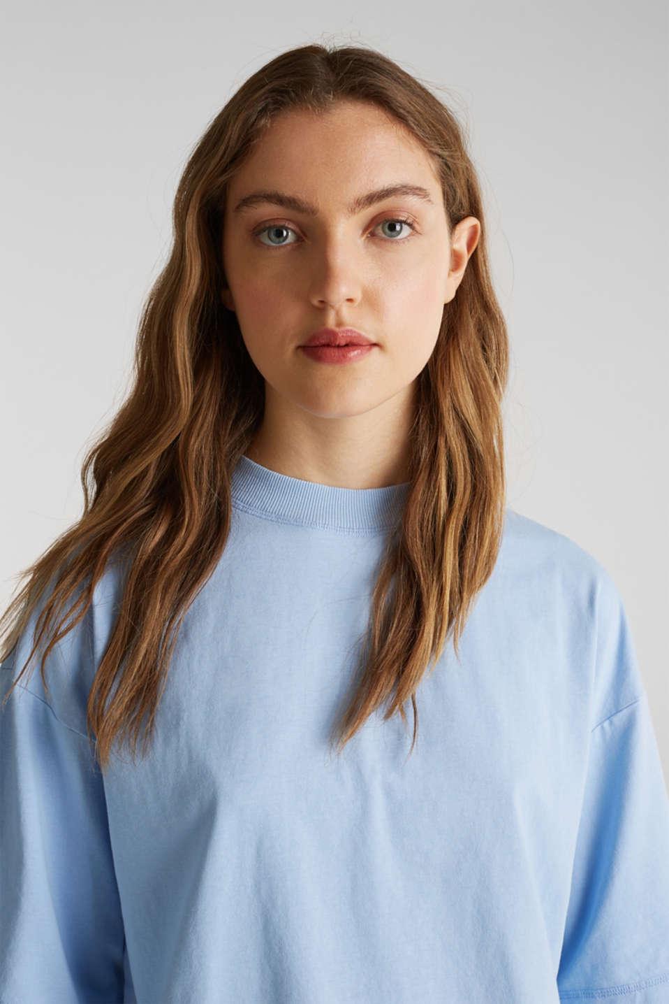 Loose T-shirt in 100% cotton, BLUE LAVENDER 4, detail image number 5