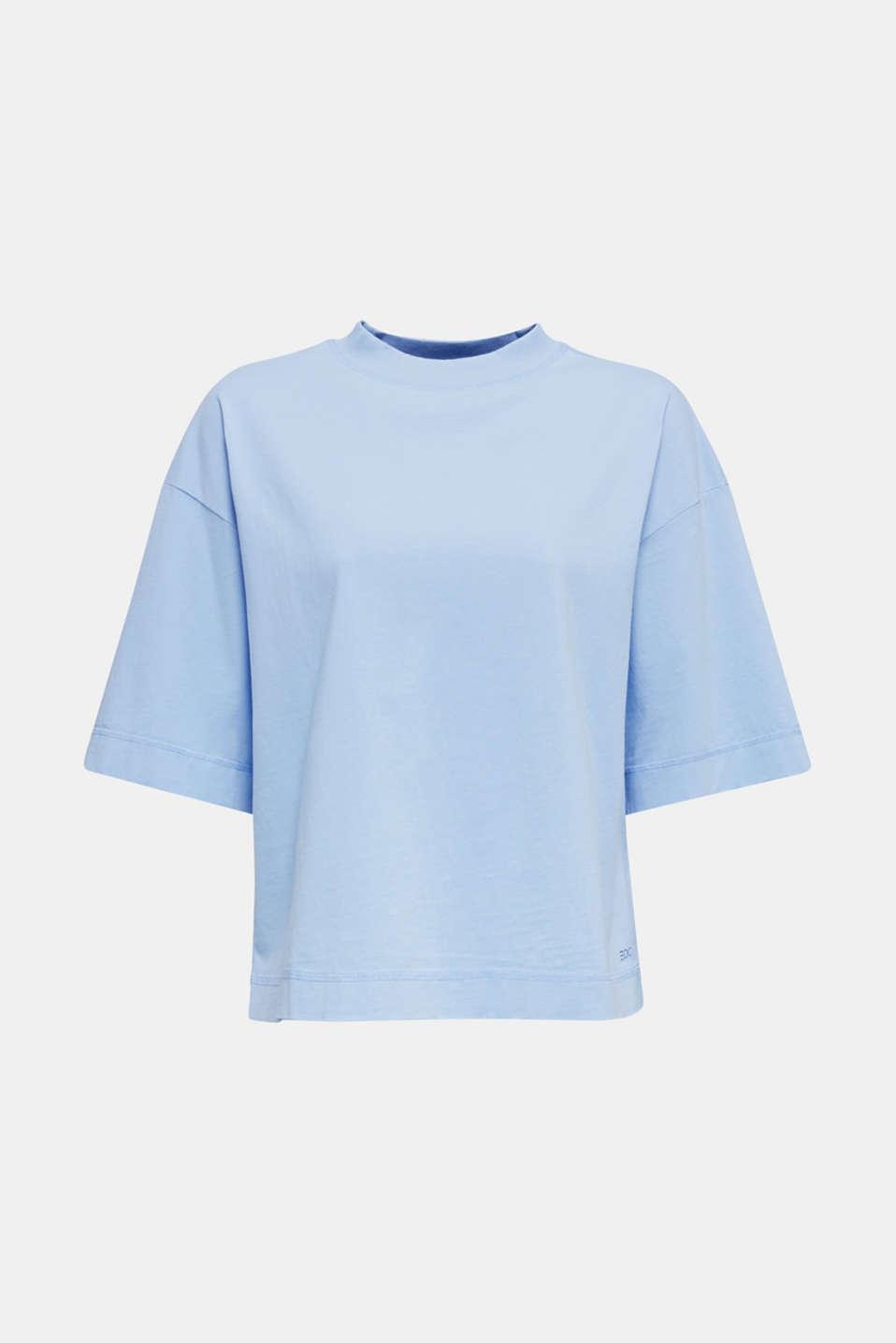 Loose T-shirt in 100% cotton, BLUE LAVENDER 4, detail image number 6