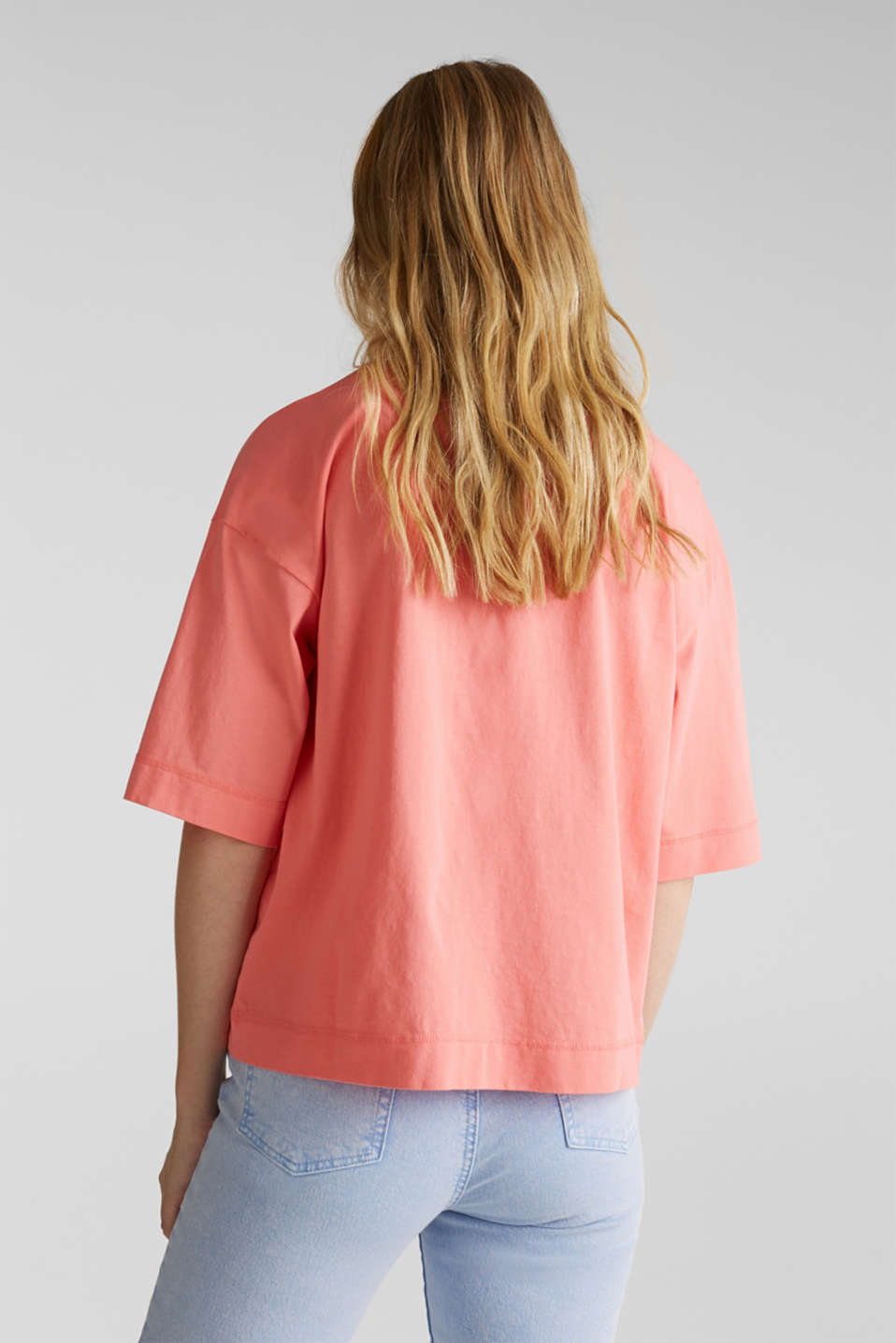 Loose T-shirt in 100% cotton, CORAL 3, detail image number 3