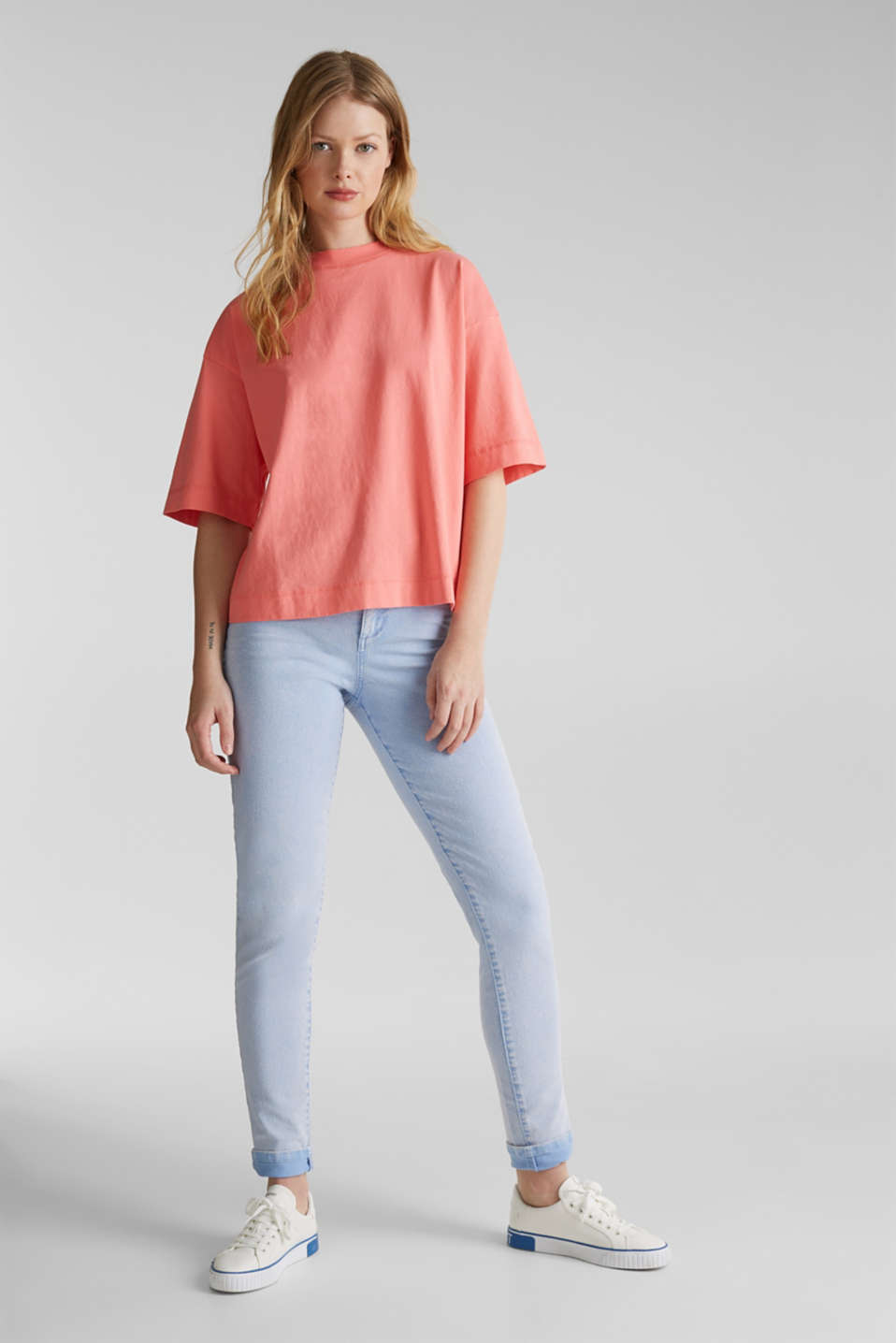 Loose T-shirt in 100% cotton, CORAL 3, detail image number 1